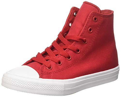 Converse Chuck Taylor All Star Glitter High Top Sneakers Salsa Red