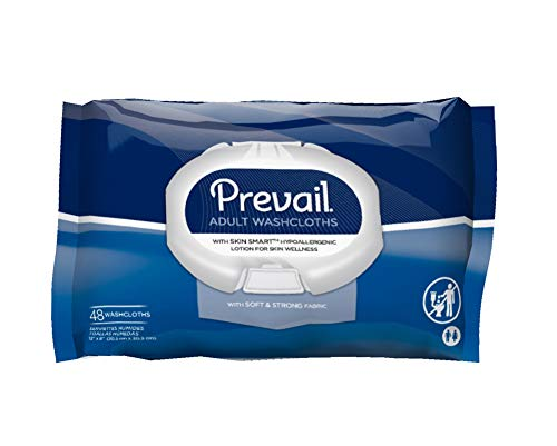 Prevail Disposable Washcloths, Soft Pack w/Press Open Lid, 12x18 Inch, WW-710 (Case of 576)