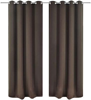 taofuzhuang 2 Cortinas Marrones oscuras con Anillas Blackout 135x245cmCasa y jardín Decoración Tratamientos de la Ventana Cortinas y visillos: Amazon.es: Hogar