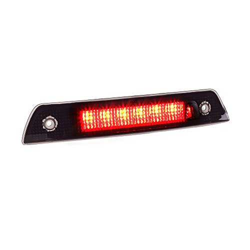 MOFORKIT Smoked LED 3rd Third Brake Light High Mounted Stop Compatible with Jeep Grand Cherokee 2005 to 2010 (Mounted Third Light Brake)