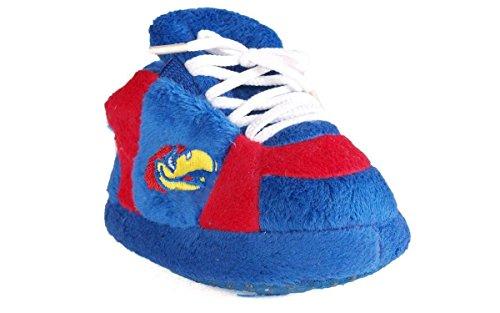 KAN03PR - Kansas Jayhawks NCAA Happy Feet Baby Slippers