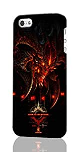 iPhone 5/5S Case ~ Diablo III ~ ABCone Personalized Custom iPhone Plastic Phone Case Back 3D Rough Diy Cover for Iphone 5 5S