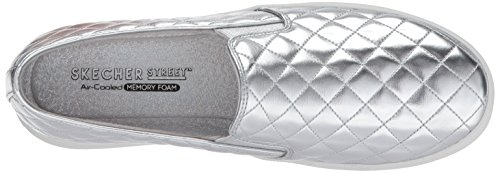 Skechers Silver Sneaker on Duvet Double up Damen Slip Silber qZqg1SF