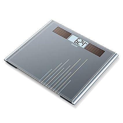 Beurer GS-380 - Báscula de baño, pantalla LCD, con carga solar,