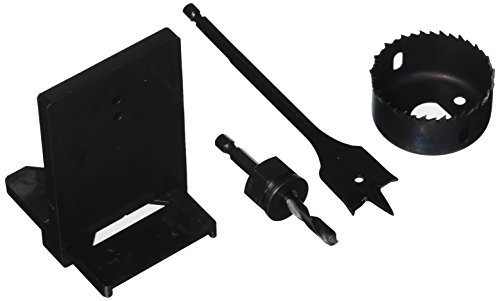 Vermont American 18338 Carbon Hole Saw Lock Installation Kit with Template for 1-Inch Latches