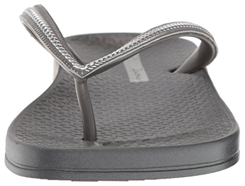 Ipanema Women's Ana Metallic II Flip Flop, Grey/Silver Grey/Silver