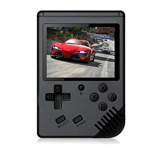 MAXMIKO Handheld Game Console, Portable Video Game 3 Inch HD Screen 313 Classic Games,Retro Game Console Can Play on TV, Good Gifts for Kids to Adult. (Black) (Best Handheld Game System For A 5 Year Old)