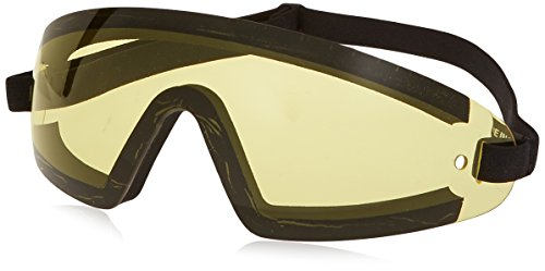 Bobster BW201Y Wrap Around Sunglasses, Black Frame/Yellow ()