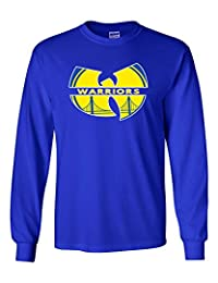 """The Silo LONG SLEEVE Blue Golden State """"Wu"""" T-Shirt"""