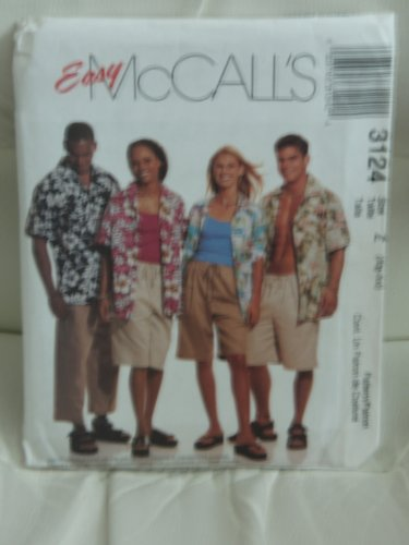 (McCall's Sewing Pattern #3124:(EASY) Misses', Mens's & Teen Boys Shirt & Shorts in Two Lengths (Sizes XL-XXL))
