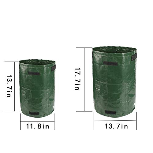 S-Mechanic Potato Grow Bags - 2 Pack 10 Gallon and 2 Pack 7 Gallon Garden Vegetables Planter Bags with Handles and Access Flap for Grow Vegetables - Vegetable Growing Bags Outdoor
