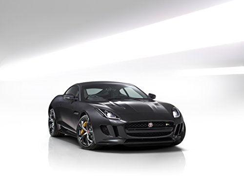 - Jaguar F-Type R Coupé AWD (2016) Car Print on 10 Mil Archival Satin Paper Black Front Side Studio View 36