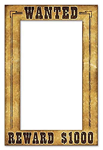 Multicolor 2 Pack Beistle 52158 Western Wanted Photo Fun Frame 15.5 x 23.5