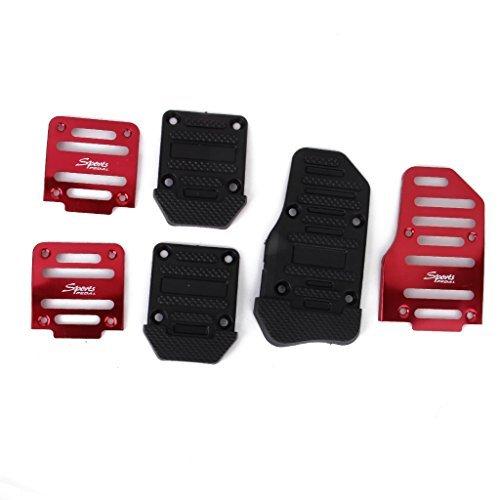colore rosso set di 3 copripedali antiscivolo per auto e camion Ronshin