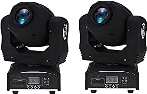 XPC 2PCS 90W Moving Head Light 8 Gobo Rainbow 8 Colors 9/11 Channels LED Stage Gobo Pattern Lamp for Disco KTV Club Party Wedding (90W-2PCS)