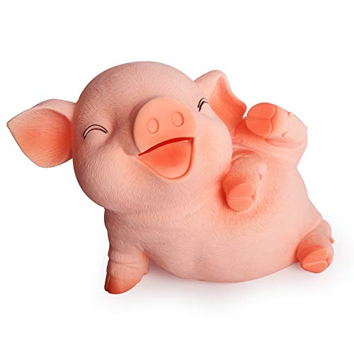 S SUNINESS Large Piggy Bank Unbreakable - Kids Money Bank Can Hold 1000 Coins Cash (Pig-1)