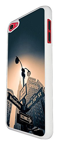 002907 - New York Street Sign Broadway West Street Design For Apple ipod Touch 5 Fashion Trend CASE Back COVER Plastic&Thin Metal - White