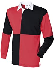 Front Row Quartered Rugby Sports Polo Shirt
