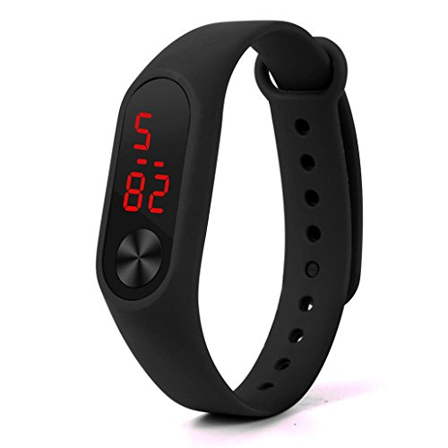 Xiaomi MI Band 2 2017,Sunfei New Fashion Original Silicone Wrist Strap Wristband Bracelet Replacement (Black)