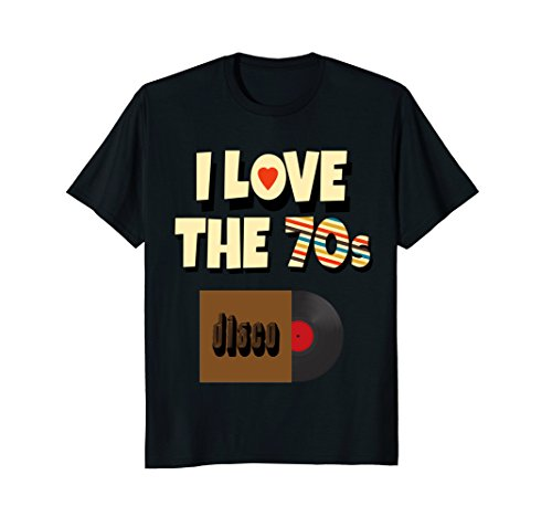I Love The 70s Shirt Vinyl Record Retro Apparel Men Women -