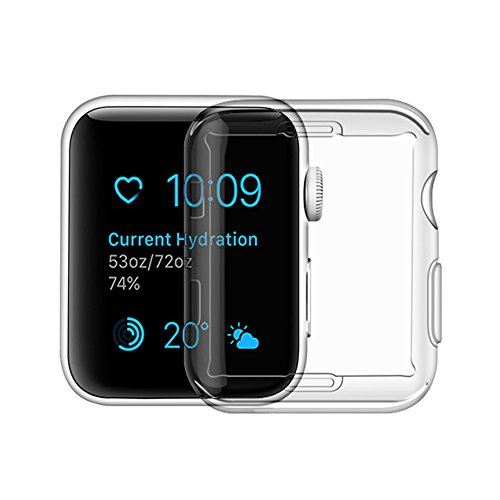 Toosunny Apple Watch Series 3 Case, Iphone Watch 3 TPU Screen Protector All-around Protective 0.3mm Hd Clear Ultra-thin Cover (for Apple Watch Series 3 42mm)