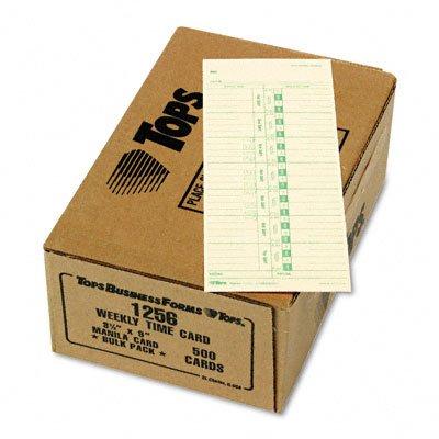 Tops 1256 Acroprint Cincinnati Lathem Simplex Stromberg Time Card 3-1/2 x 9 500/Box