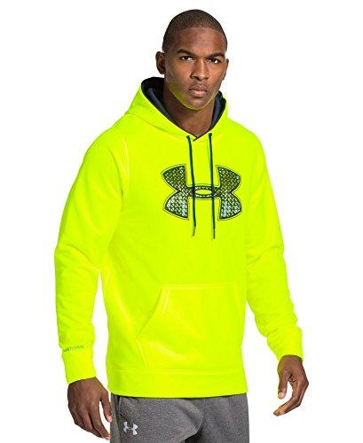 Under Armour Men's UA Storm Armour® Fleece Gametime Big Logo Hoodie Small High-Vis Yellow