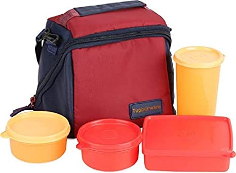 Amazon Com Tupperware Best Lunch Set 4 Pieces And Lunch Bag Kitchen Dining