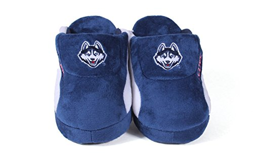 Pro Slippers Feet Happy Connecticut Low NCAA Huskies LICENSED Mens and Womens College OFFICIALLY 6xwzHqT