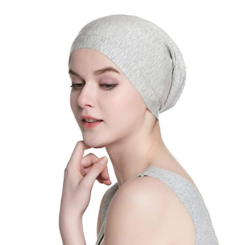 Slouchy Beanie Casual Bonnet Satin Lined Head Wrap Knit Beanie Cap