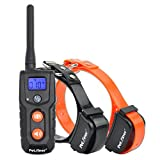 Petrainer 330 Yards Remote Training E-collar Pet916n Rechargeable and Waterproof 2 Dog Training Collar with Safe Beep and Strong Vibration, NO STATIC SHOCK