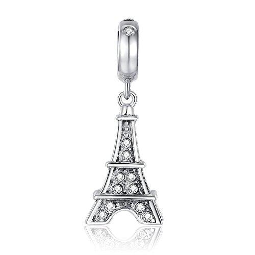 Paris Eiffel Charm Tower 925 Sterling Silver Bead Charm fits Pandora Bracelet