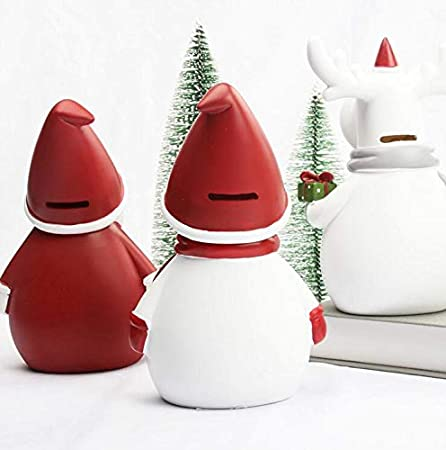 Christmas Decoration Great Gift for Children in Christmas Personalized for Kids Boys Girls Party Decoration Large Size Resin Gift Money Box Money Bank Coin Bank Cute Moose Piggy Bank for Boys Girls
