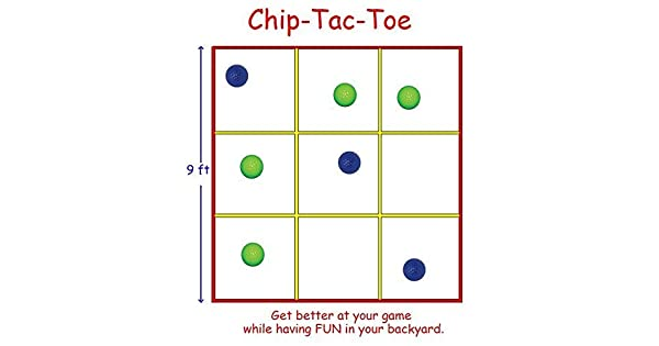Amazon.com: Puntera de Chip Tac, un juego de golf de patio ...