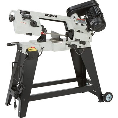 Klutch Horizontal/Vertical Metal Cutting Band Saw - 4 1/2in. x 6in, 3/4 HP, 120V Motor