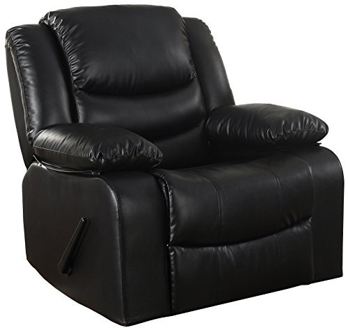 Bonded Leather Rocker Recliner Living