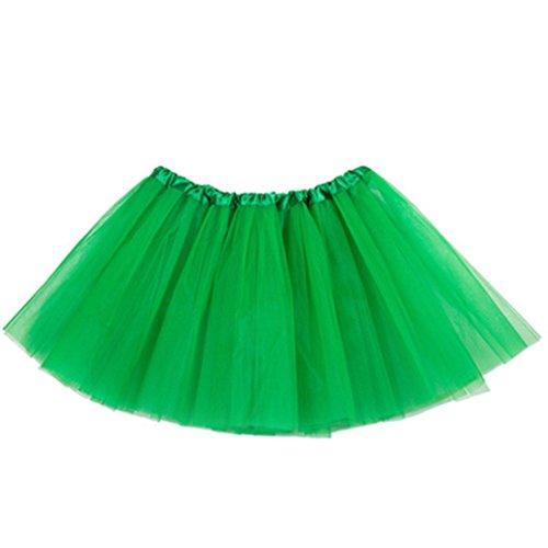 sumuya Tutu Jupe Jupon Pettiskirt 3 Couches Tulle Jupe Robe pour Carnaval et Danse Vert