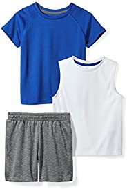 Spotted Zebra Boys Active T-Shirt, Tank and Shorts Set