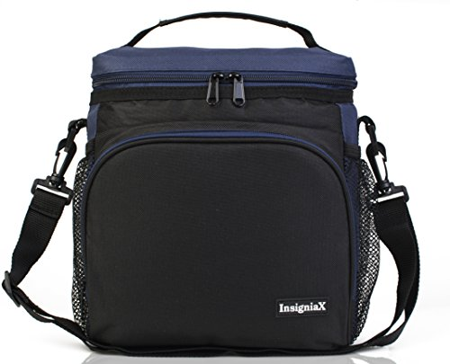Insulated Lunch Bag S2: InsigniaX Cool Lunch Box/Cooler/Lunchbox for Adult Women Men Work School Kids Girls Boys With Shoulder Strap Water Bottle Holder H: 10