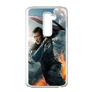 LG G2 Captain America 2 Phone Back Case Custom Art Print Design Hard Shell Protection DF035822