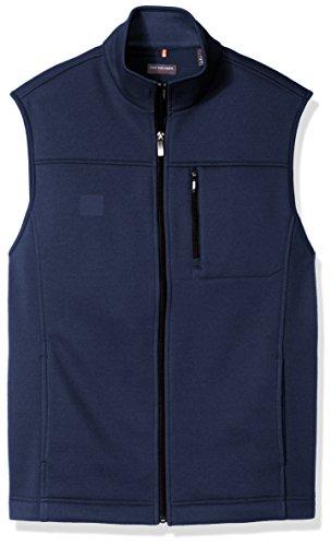 Van Heusen Men's Traveler Solid Full Zip Vest, Blue Barge, X-Large