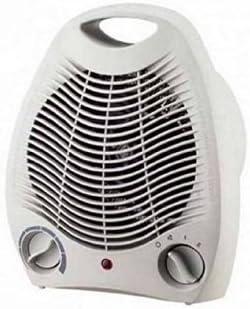 Calentador de baño, ventilador calefactor, estufa eléctrica ventilada, 2 potencias con termostato ambiente: Amazon.es: Hogar