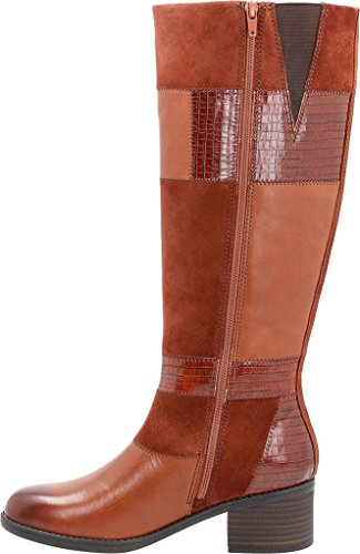 Nova Grain Cow Leather High Full Leather Knee Tan Boot Women's Go Nevella Clarks UvqCEC