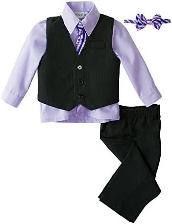 Spring Notion Baby Boys' 5 Piece Pinstriped Vest Set