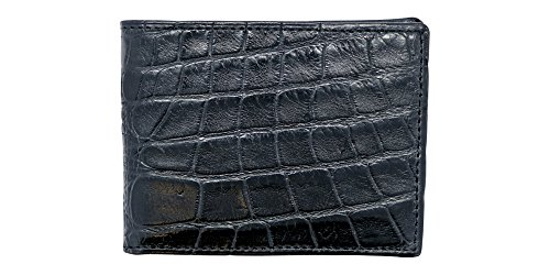 Black Genuine Alligator Millennium Bifold Wallet – Alligator Inside and Out RARE - Factory Direct - Gift Box – Slim Bllfold - Made in USA by Real Leather Creations FBA297 by Real Leather Creations (Image #3)