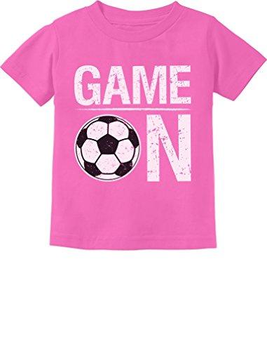 Tstars - Game On! Gift for Soccer Lover/Player Toddler Kids T-Shirt 3T Pink