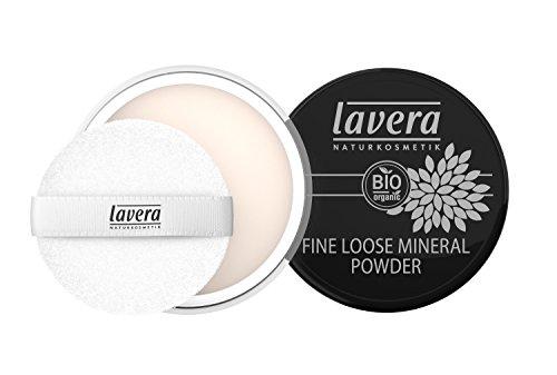 lavera Puder Fine Loose Mineral Powder ∙ transparentes Gesichtspuder ∙ fixiert & umhüllt ∙ Natural & innovative Make up ✔ vegan ✔ Bio Pflanzenwirkstoffe ✔ Naturkosmetik ✔ Teint Kosmetik 1er Pack (1 x 8 g)