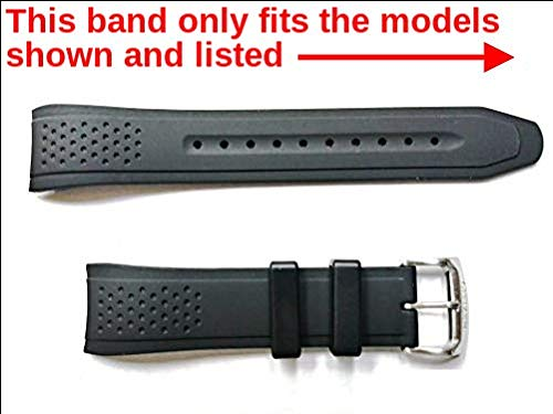 Citizen Watch Company of America Genuine Black Rubber Watch Strap for Men's Eco-Drive AR-Action Required Black Dial Watch Part #59-S52587  ()