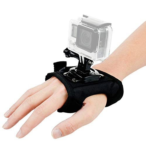 Wrist Strap Mount 360 Degree Panoramic Swiveling Glove Style Hand Mounts with Screw for GoPro Hero 7 6 5 4 Black Session, DJI OSMO Action Camera Accessories
