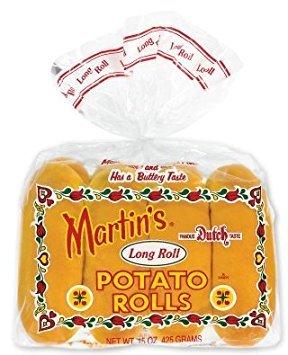 Martin's Long Roll Potato Rolls - Pack of 3